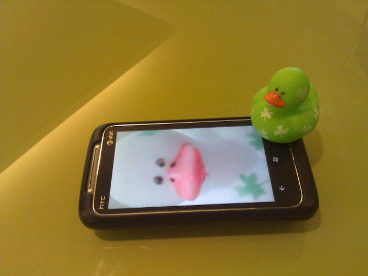 Lucky Duck loves his Windows Phone 7