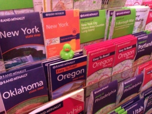 Travel maps at Borders New York City