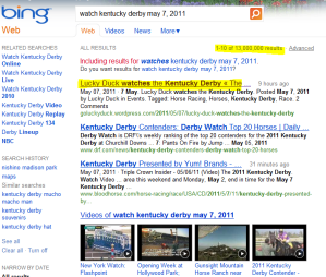SEO Kentucky Derby on Bing