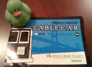 San Francisco cable car ticket