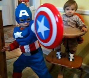 Captain America kid fan