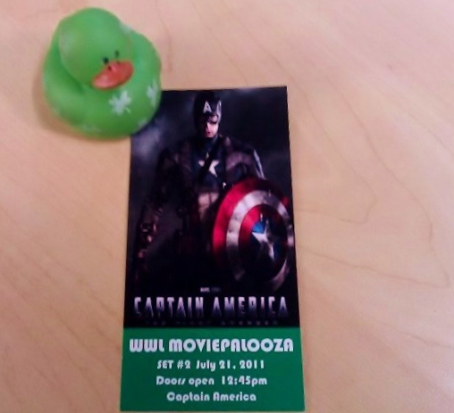 Captain America Movie Ticket