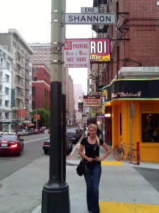 Shannon alley in San Francisco
