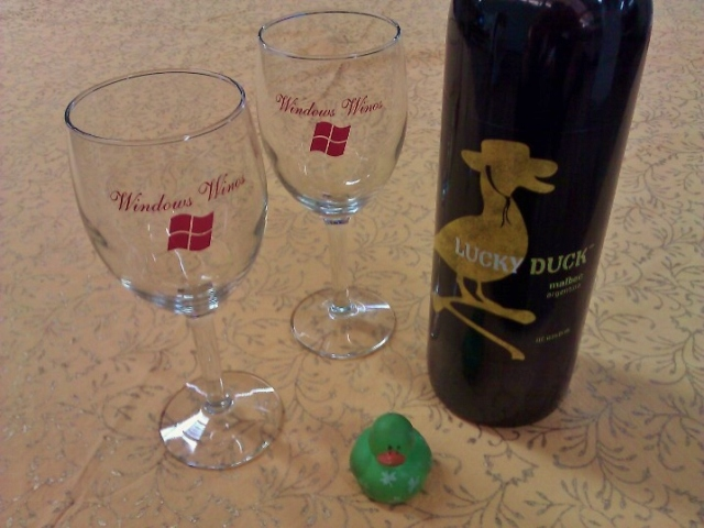 Lucky Duck is a Malbec! Thanks, Marty!