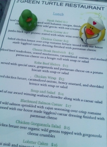 Lucky Duck and nurse eat at Green Turtle