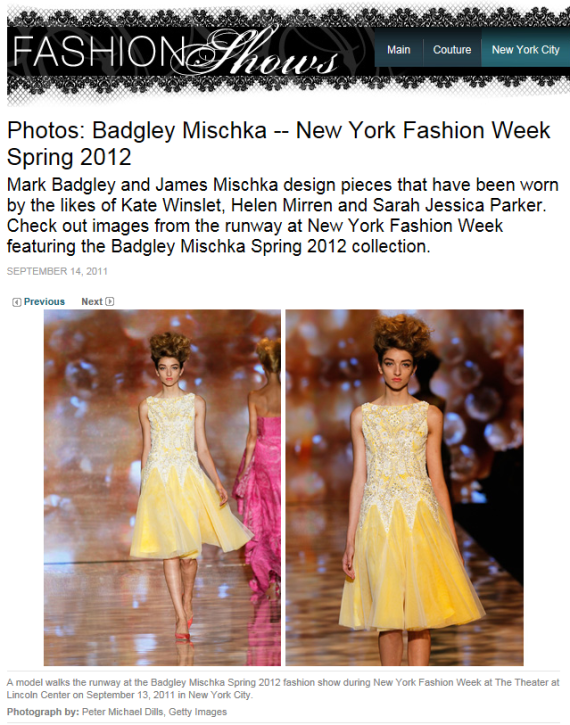 Badgley Mischka model