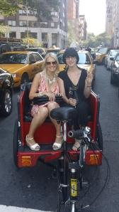 Rickshaw out to the Bing Loung at the Mandarin Oriental