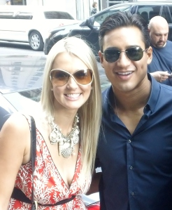 Shannon Harms and Mario Lopez
