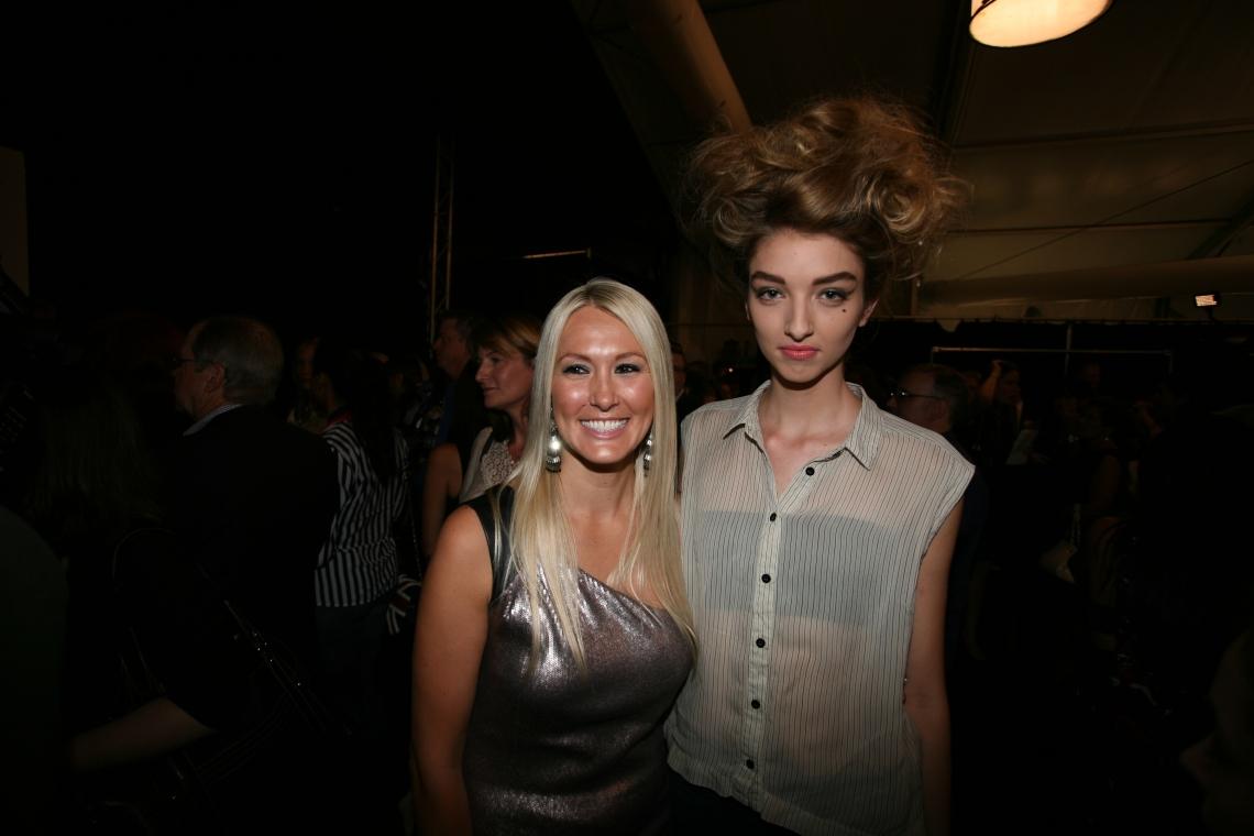 Badgley Mischka model and Shannon Harms