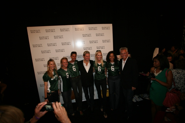 Mark and James with the Jets ladies