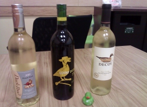 Duck themed wine