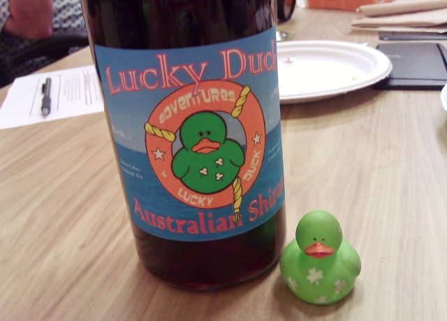 Custom Lucky Duck wine