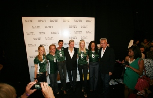 Jets owner's wife Suzanne Johnson with Badgley Mischka