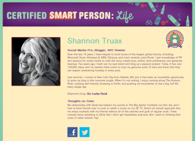Shannon Truax Certified Smart Person