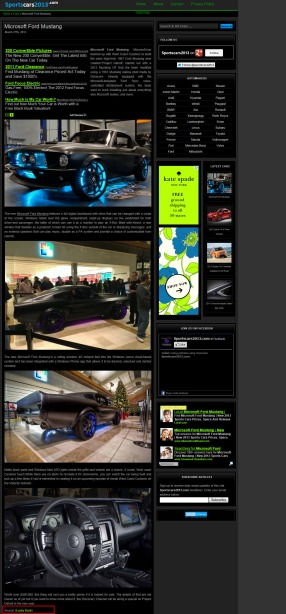 Sportscars2013.com writes about the Microsoft Mustang