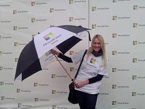 Shannon Harms at Microsoft Store Grand Opening in U Village