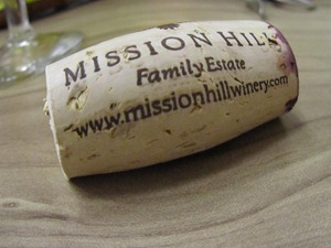 Mission Hill Winery cork, by Jean of All Trades
