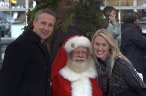 Photo of Mike and me with Santa, by Marcus Anderson