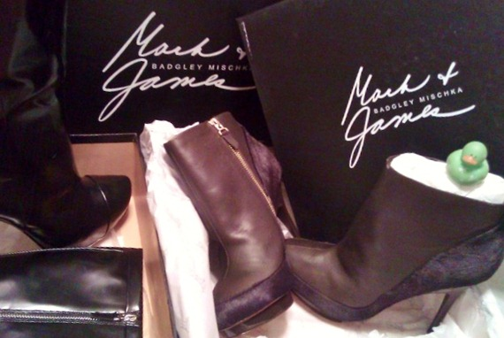 Mark + James Badgley Mischka boots