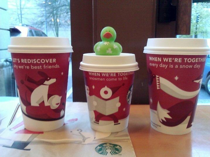 christmas cups at starbucks - Starbuck Christmas Cups