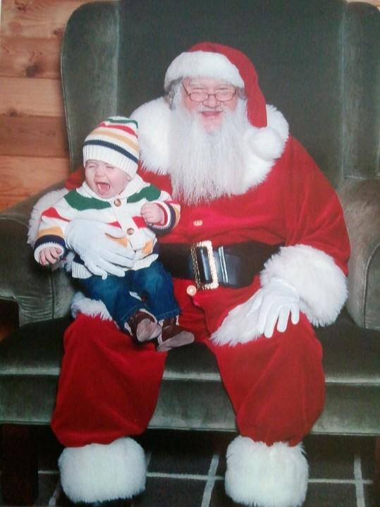 Carter on Santa's lap