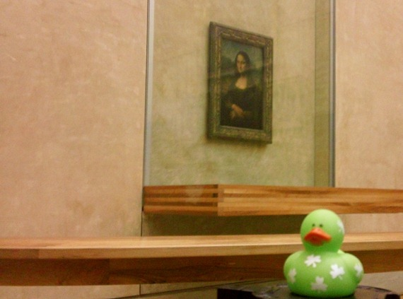 Lucky Duck visits The Mona Lisa at The Louvre
