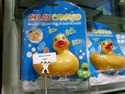Massage ducks at a normal store in Monmartre