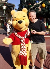 Mike with Pooh