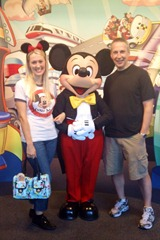 Mike, Shannon, and Mickey Mouse