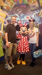 Mike, Shannon, and Minnie Mouse