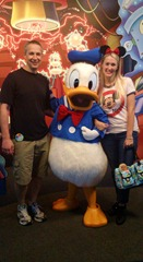 Mike, Shannon, and Donald Duck
