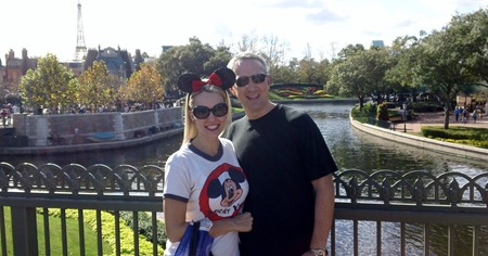 Mike and Shannon in France at Disney World