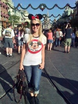Shannon on Main Street U.S.A.
