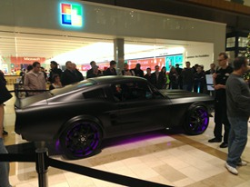Microsoft Project Detroit Ford Mustang lights up
