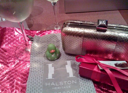 Halston Heritage holiday clutch