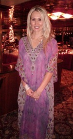 Badgley Mischka caftan