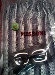 Missoni tunic and sunglasses
