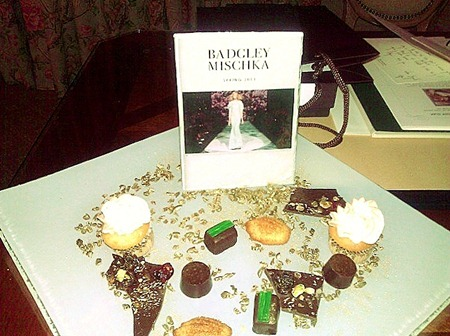 Badgley Mischka personal desserts from The Peninsula