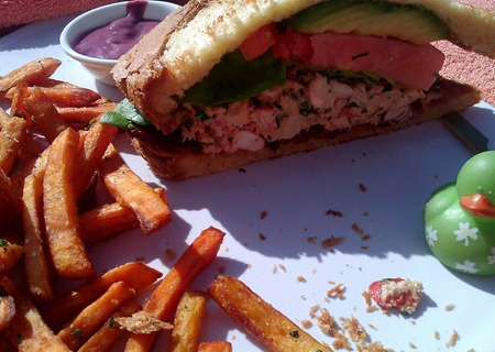 Lobster BLT at Beverly Hills Peninsula Rooftop Swimming Pool