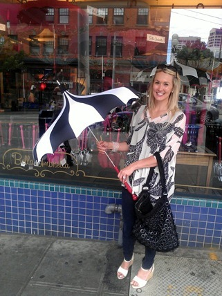 Shannon Harms at Bella Umbrella in downtown Seattle