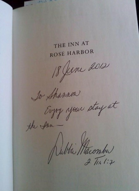 Debbie Macomber signed my book