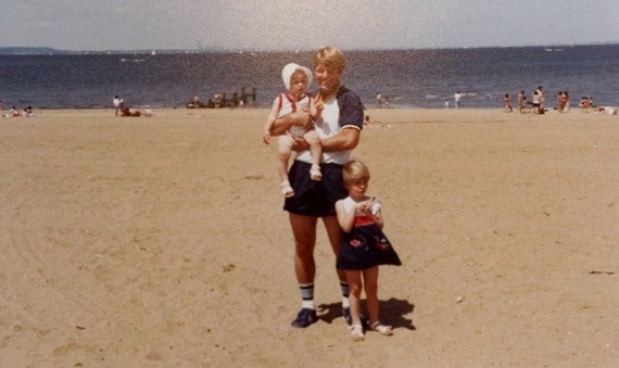 Dad, Kris, and me at the Keansburg Boardwalk
