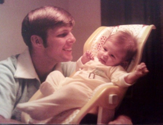 My dad and me (that totally doesn't look like me!)
