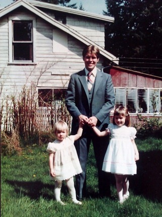 Dad, Kris, and Me at Easter