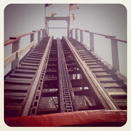 Front car on The Cyclone at Coney Island
