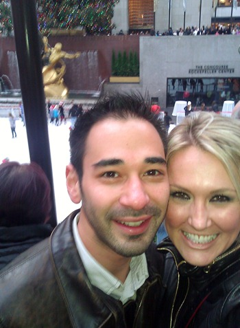 Shannon Harms and Simon Baltovic at the Ice Skating Rink