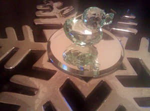 Green Swarovski Duck
