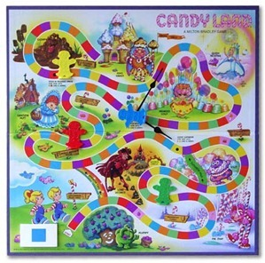 Old Candyland Board Game