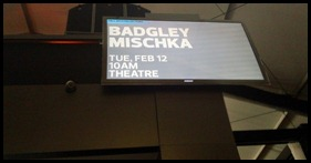 Badgley Mischka signage at Fashion Week