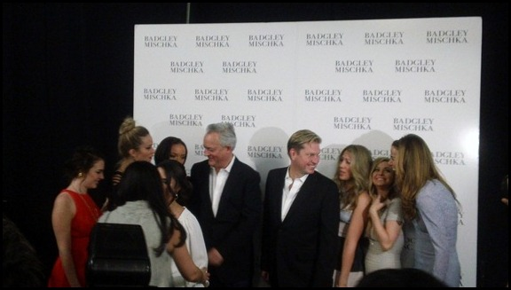 Mark Badgley and James Mischka back stage